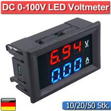 DC 10/50/100A 100V LED Voltmeter Amperemeter Spannungsmesser Strommesser Volt DE