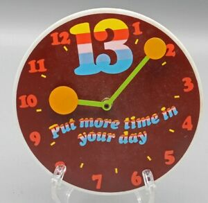WestClox Colorful Thirteen Hour Wall Clock Battery Operated