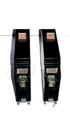 2X Eaton Cutler Hammer Ch140 Single Pole 40 A Type Ch Circuit Breaker Ships Usps