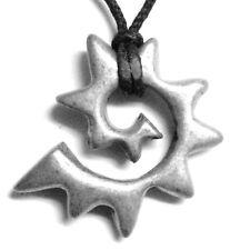 "Maori symbol for new life/evolution Tribal design pendant (""Koru-fern"") charm,"