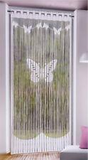 Fadenstore Schmetterling Weiß 230*90cm Fensterstore Fadengardine Insektenschutz