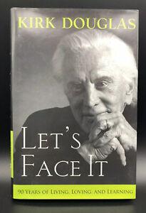 Kirk Douglas Autographed Book Let's Face It Hardcover Signed Copy