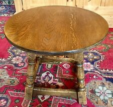 VINTAGE SOLID OAK SMALL ROUND OCCASIONAL / COFFEE TABLE