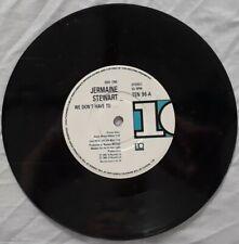"""Jermaine Stewart-We Don't Have To/Brilliance Vinyl 7"""" Single.1986 TEN 96."""