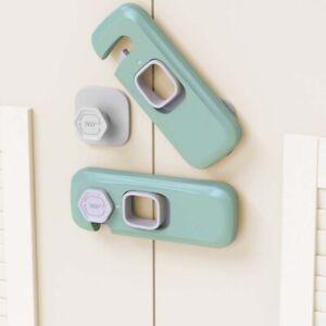 Home Refrigerator Freezer Door Lock Catch Toddler Kids Child Cabinet Locks h