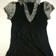 Maurices Black Gray Silver Top Size M