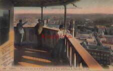Postcard Expo  1914 Panorama Plate Forme Tour Metallique Fourviere Lyon France