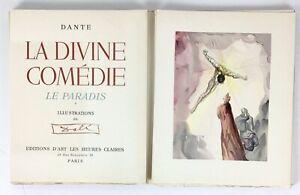 RARE Salvador Dali 1960 Divine Comedy Volume With 4 Original Woodcuts