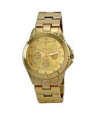 NEW Breda 8128-Gold Womens Abigail Boyfriend Style Sunray Dial Yellow Gold Watch