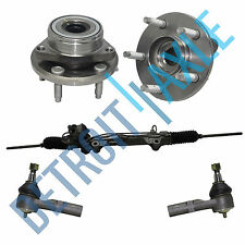 5 Set: Complete Rack and Pinion Excl. SHO + 2 Wheel Hub Bearing +2 Outer Tie Rod