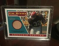 2001 Topps Heritage Football Stadium Relic #S8 Jim Brown