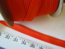 "A2401R  Bias Binding Tape Poly Cotton Orange 3/4"" One Fold 175? Yd Roll"