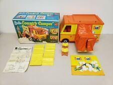 Vintage 1970 Barbie Country Camper Playset Van RV Mattel With Original Box READ