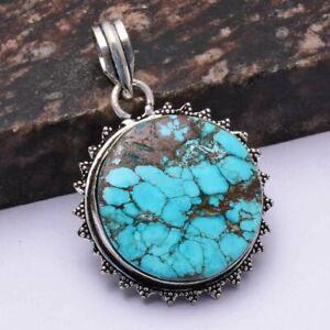"""Turquoise Ethnic Handmade Pendant Jewelry 1.8"""" AP 46339"""