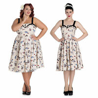 Hell Bunny Circus Dress Clown Print 50's Rockabilly Vintage Party Retro Swing