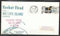United States 1971 Jan 29 space cover Rocket Fired from Wallops Island NASA