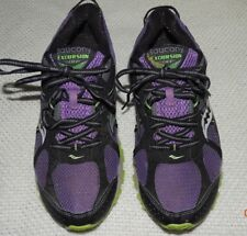 SAUCONY EXCURSION TR7 PURPLE BLACK GREEN RUNNING TRAIL SHOES WOMEN'S 9.5 NR MINT