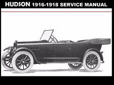 HUDSON SUPER SIX 1916 1917 1918 SERVICE MANUAL 135pg with Overhaul and Repair