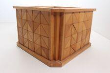 Flower Pot Planter Wood Handmade Individual Piece Mosaic (13)