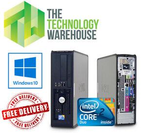 Dell Optiplex SFF PC - Fast Computer with Intel CPU With SSD & Windows 10 Pro