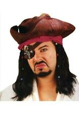 Caribbean Pirate Wig with Attached Headband Halloween Costume Hair Adult Wig