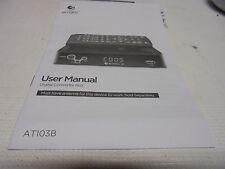 Original Printed Users Manual For Ematic AT103B Digital TV Converter Box