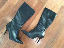 BLACK LADIES SIZE 5 KNEE HIGH BOOTS