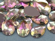 18x13mm Crystal Clear AB H702 Flat Back Teardrop Acrylic Gemstones  - 30 Pieces