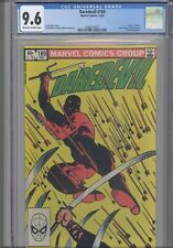 Daredevil #189 CGC 9.6 1986 Marvel Death of Stick, Black Widow App: New Frame