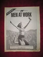 Men At Work - 1983 Us Full-Page Ad Westwood One Live 'In Concert' Radio Show