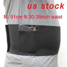 US STOCK Adjustable Belly Band Waist Pistol Gun Holster & 2 Mag Pouches M Size
