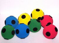 8 No Bounce Balls Low Density Foam Soft Spongy Spot Target Balls Games Activity