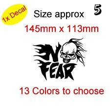 SKULL IN NO FEAR! Graphic Vinyl Decal Sticker Car, Laptop Bike etc (REF 5)