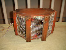 Vintage Nautical Fishing Catch Or Bait Box-Wood Box W/Mesh Screen-Top Removes