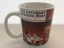 Disney Mug Saturday Evening Post Norman Rockwell Diner Mickey Minnie Mouse Goofy