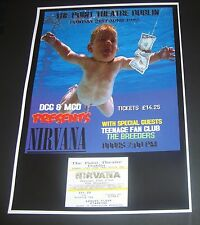 Nirvana concert poster+ticket Point Theatre Dublin Ireland 1992 A3 repro
