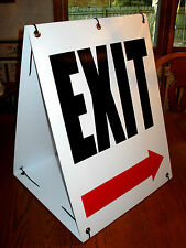 Exit With Arrow Sandwich Board Sign 2-sided Kit New