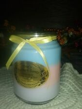 BEAUTIFUL TRIPLE LAYER 240Z SOY CANDLE -MULTI-COLOR - YOUR CHOICE OF FRAGRANCE