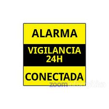 CARTELES Y ADHESIVOS DE ALARMA CONECTADA VARIOS MODELOS USO PARA ALARMAS CASA