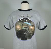 SCYTHE Beware The Scythe Gray Ringer Band Shirt 2XL (R.I.P. Records) NEW Usurper