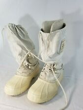SOREL SNOWLION WOMENS WHITE INSULATED LINED SNOW/WINTER KNEE HIGH BOOTS SZ 8