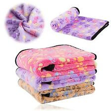 3x Dog Blanket Cushion Small Puppy Pet Cat Soft Warm Sleep Mat Bed Pink Purple