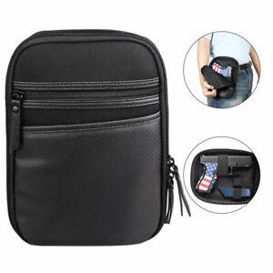 New Concealed Gun Pouch Pistol Handgun Carry Holster Fanny Pack Waist Bag Belt