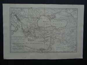 1780 BONNE  Atlas map GREECE - TURKEY - MIDDLE EAST - Turquie D'Europe et D'Asie