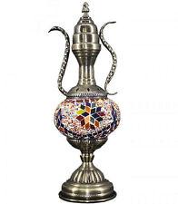 VINTAGE Turkish HANDMADE Glass Mosaic Table Lamp LIGHT