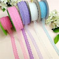 10 Yards 15mm Crochet Lace Trim Ribbon Wedding Applique Dress Sewing Crafts