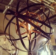"Round Metal Sphere Chandelier Orb 23"" Light Pendant Oil Rubbed Bronze Ballard"