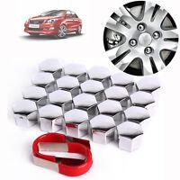20 Set 19mm Universal Car Plastic Caps Bolts Head Covers Nuts Alloy Wheel Matte