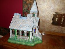 Partylite Olde World Village #2 Church P7321 Christmas Tealight Candle Holder