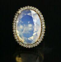 925 Sterling Silver Handmade Authetic Turkish Quartz Ladies Ring Size 7-9